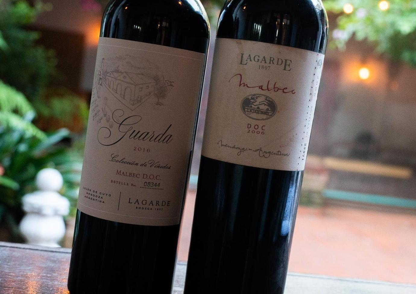 Lagarde Guarda Malbec DOC 2016 y Lagarde Guarda Malbec DOC 2006