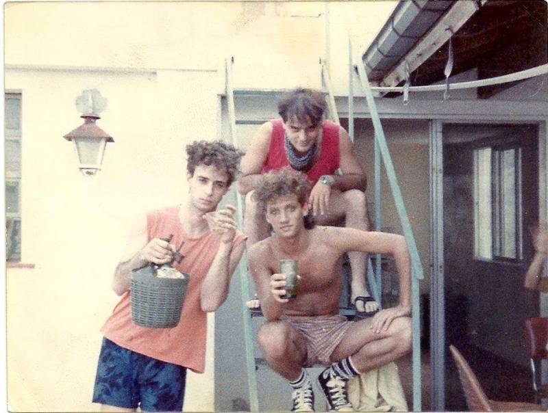 Foto de cuando apareció el primer demo de Soda Stereo