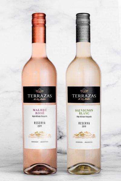 Terrazas de los Andes presenta dos nuevos vinos para su línea Reserva: Terrazas Malbec Rosé y Terrazas Sauvignon Blanc