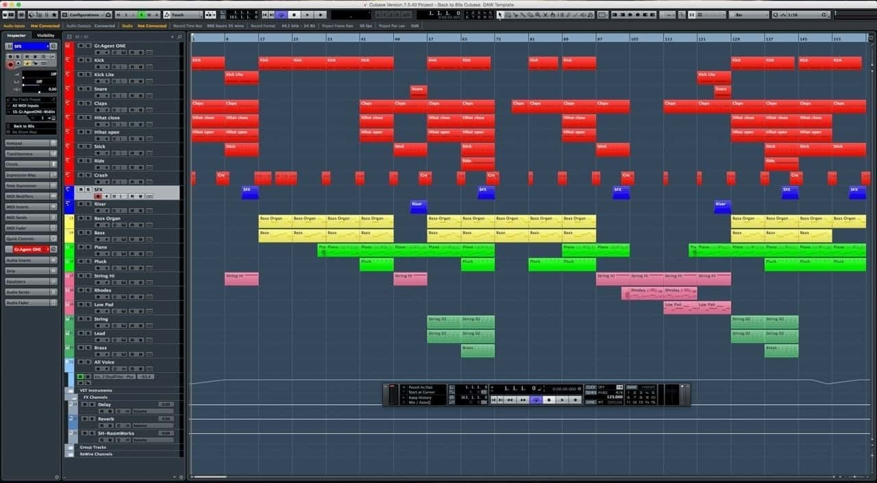 Back To 80s Cubase DAW Template