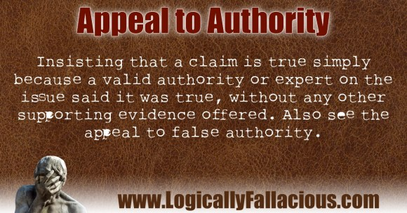 Appeal To Authority Fallacy