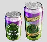 beverage cans mock up