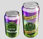 beverage cans mock up