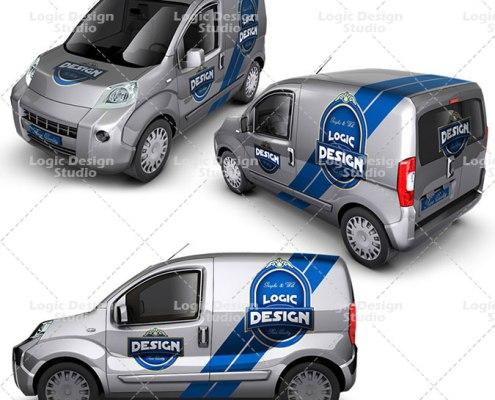 minivan car mock up details