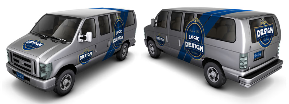 minibus car mock up front back