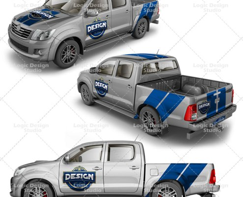 pickup double cab mock up