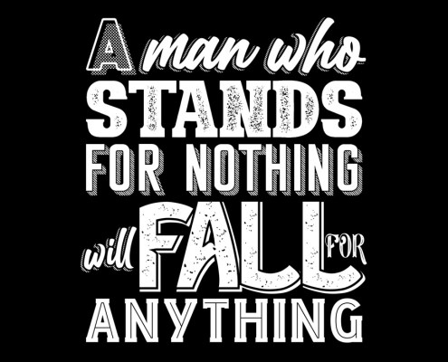 Malcom X Quote Stand and Fall