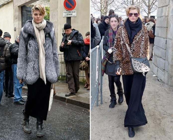 Fur Coats off duty outfits