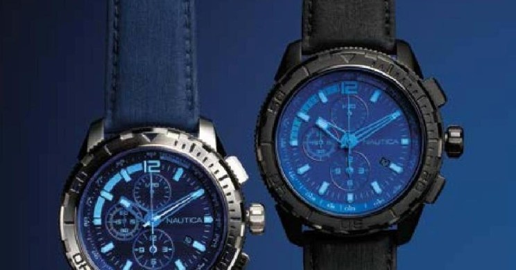NAUTICA NST 101 BLUE CRYSTAL CHRONOGAPH WATCH