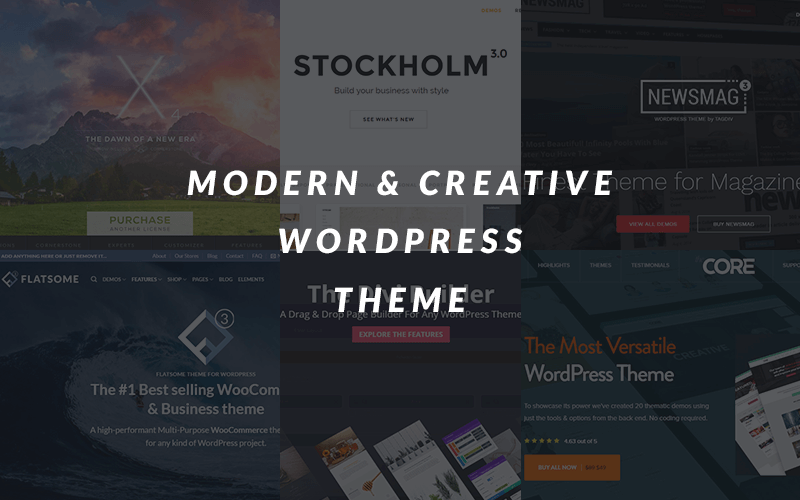 Main Banner of Modern & Creative WordPress Theme