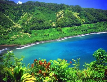 Hawaii archipelago of luxury destination in the Pacific Ocean,