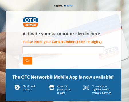 www myotccard com Login To Activate My OTC Network Card Online