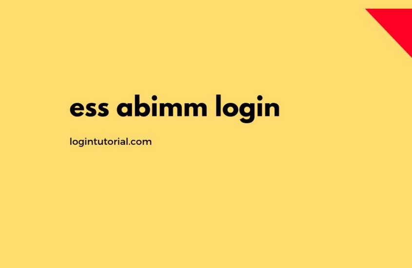 ess abimm login at www.ess.abimm.com