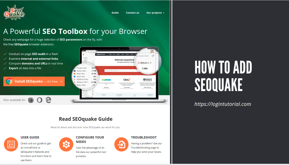 Read more about the article How to Add Seoquake on browser