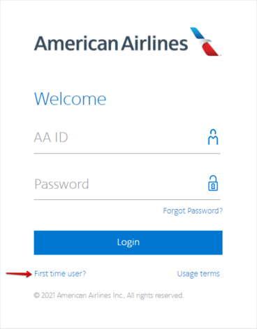 AA Jetnet First Time user