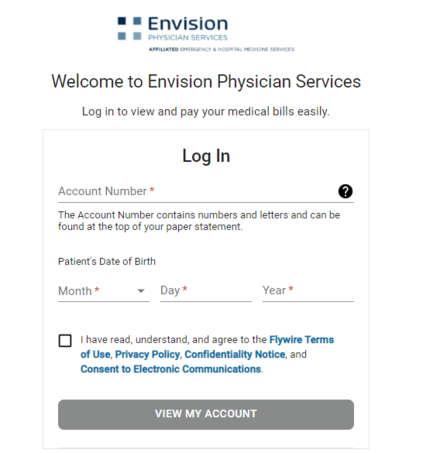 Envision Simpleepay login form