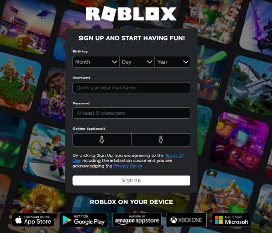 Roblox Sign Up