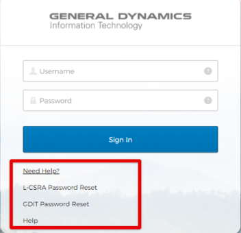GDIT Okta Forgot Password