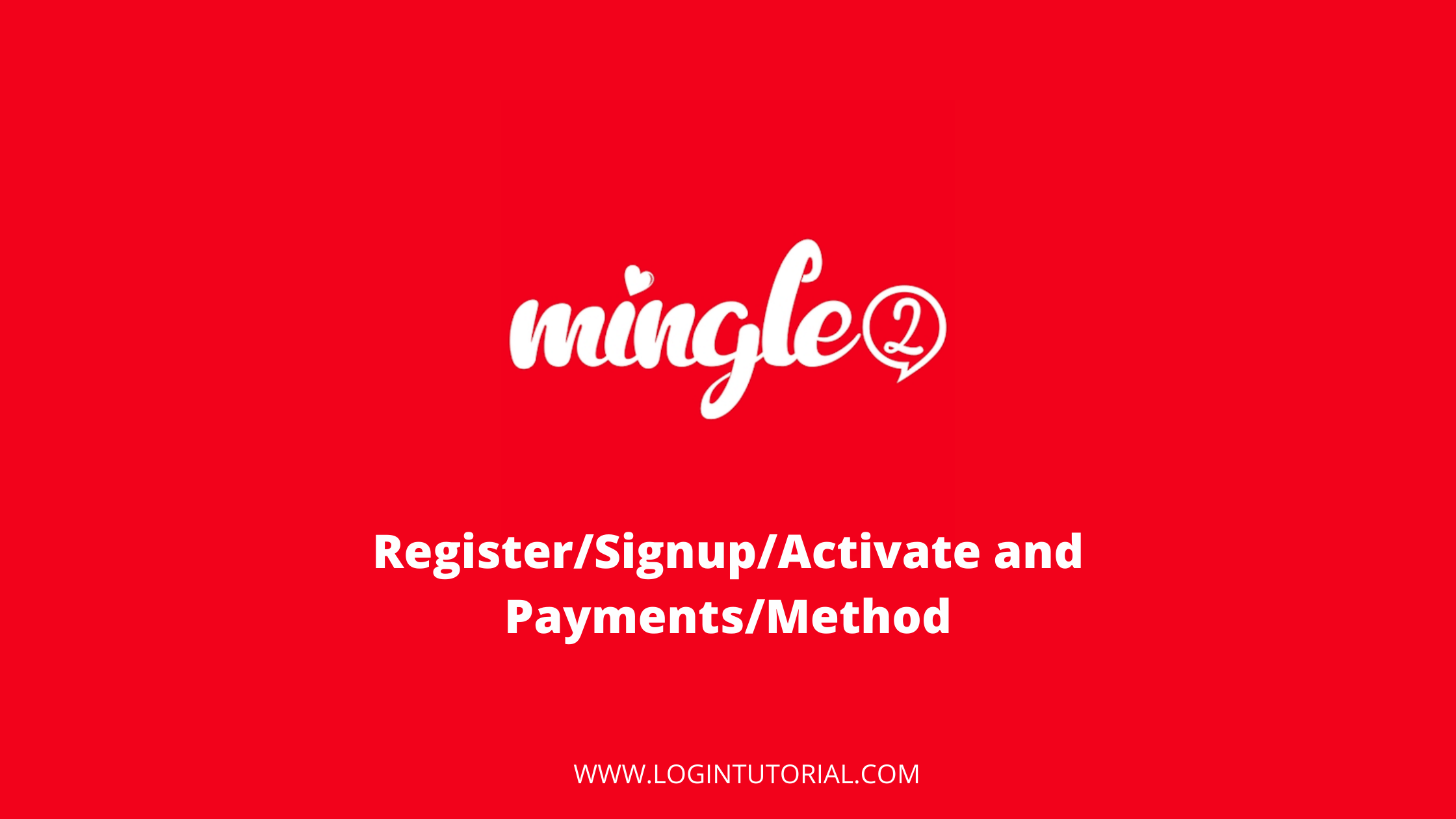 mingle2 login guide