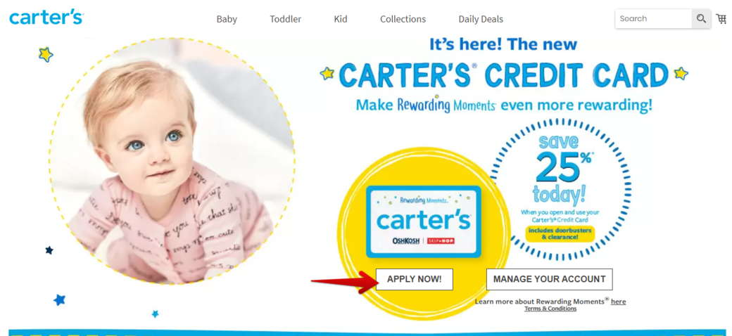 Apply Now Carters Credit Card