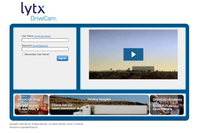 Lytx Drivecam Login Page