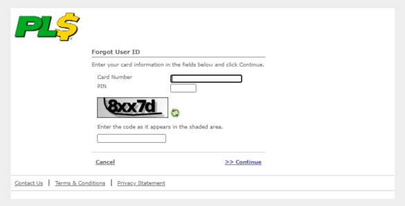 PLS Xpectations! Forgot User ID form