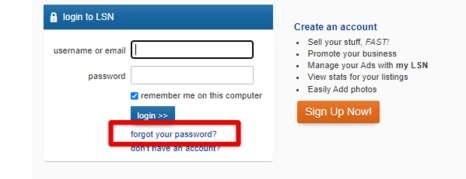 LSN Forgot Password link