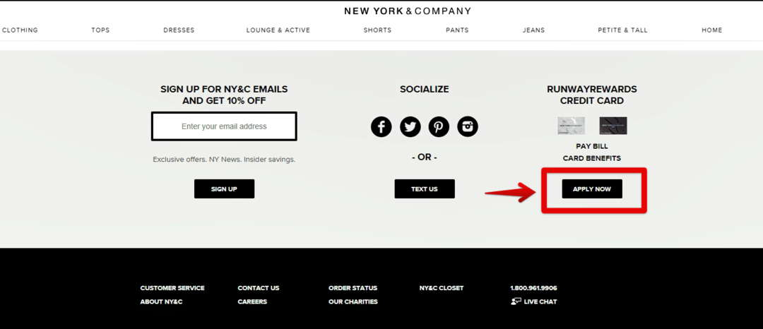 New York & Credit Card Apply