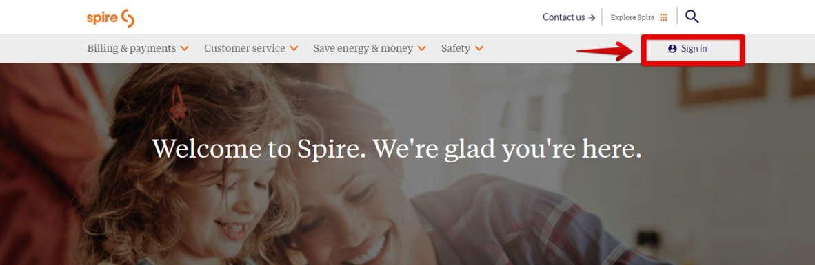 Spire bill pay Create online account