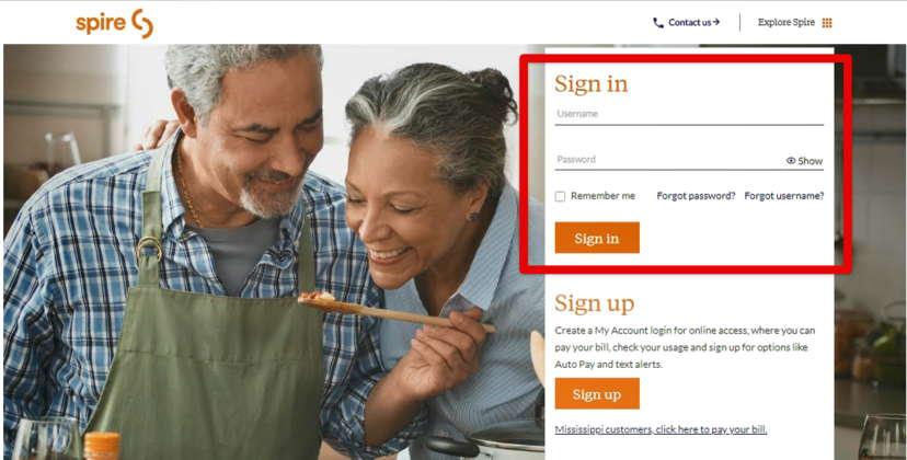 Spire bill pay online login