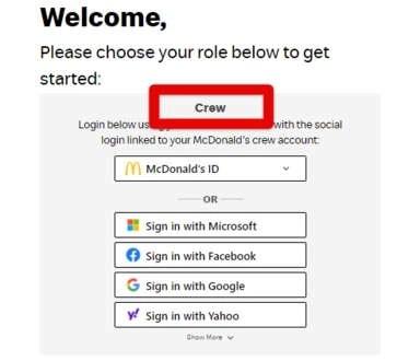 Crew MCD login