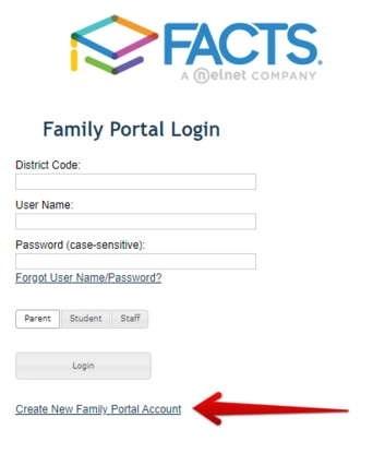 RenWeb -Family Portal Signup