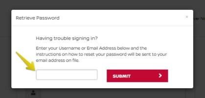 Forgot Nissan Finance Reset Password