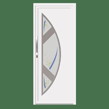 Porte d'entrée en PVC Alsace