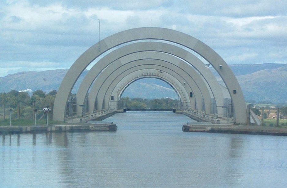 Falkirk Wheel - acesso superior