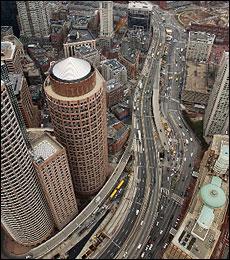 mudança no trânsito da artéria central boston