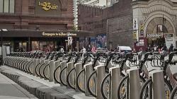 Bixi aluguel de bicicleta em Montreal, Canadá