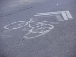faixa exclusiva para bicicletas