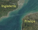 mapa do canal da mancha