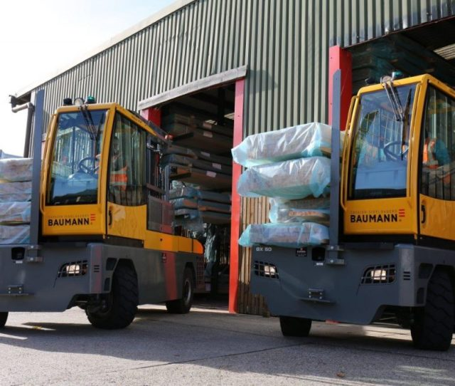 Uk Company Ridgeons Timber And Builders Merchants Has Improved Efficiency By Upgrading Its Fleet With Baumann Sideloaders