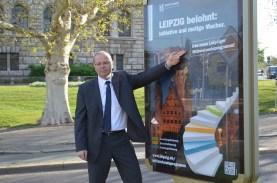 Marketingkampagne für das Mittelstandsprogramm der Stadt Leipzig; Wirtschaftsbürgermeister Uwe Albrecht