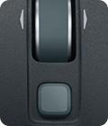 Wireless Mouse M560 scroll wheel closeup