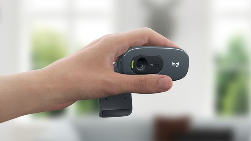 Logitech C270 HD 720p Webcam with Built-in Mic & Lighting Correction