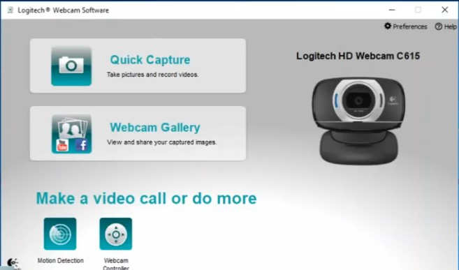 Logitech C615 recording software