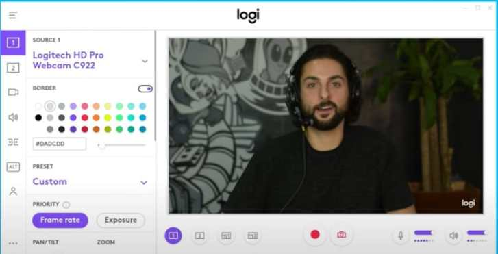 Logitech C920 webcam with capture software