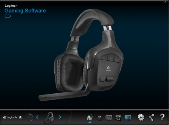 Logitech gaming software with G930 headset