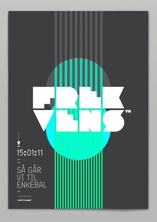 Frekvens Identity Poster Music Cd Itunes Logo Design