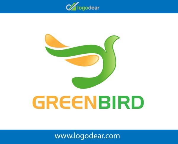Green bird modern logo