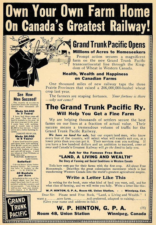 Grand Trunk Pacific ad