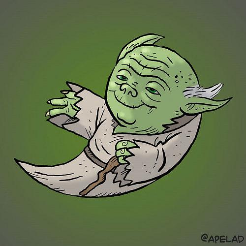 Twitter bird Yoda